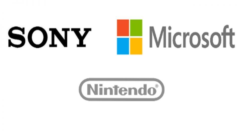 Logo di Sony Microsoft e Nintendo