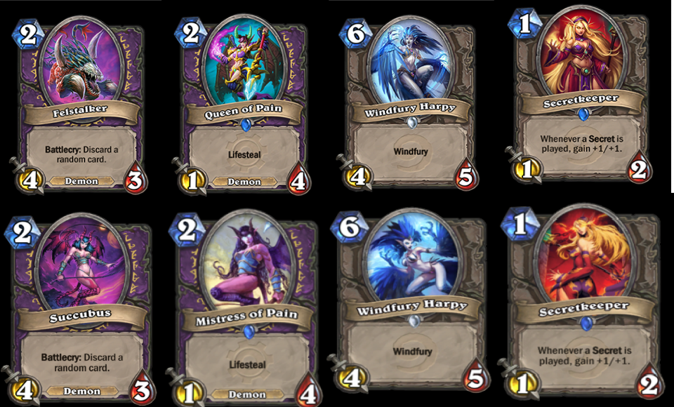 Modifiche delle carte su Hearthstone 2