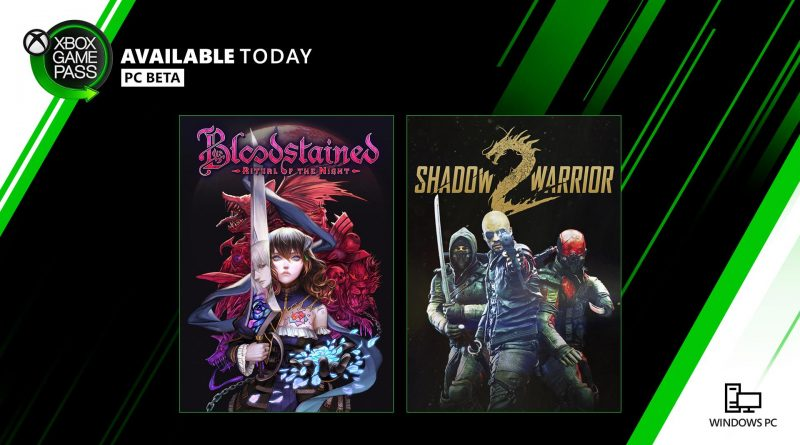 Bloodstained: Ritual of the Night e Shadow Warrior 2 Xbox Game Pass