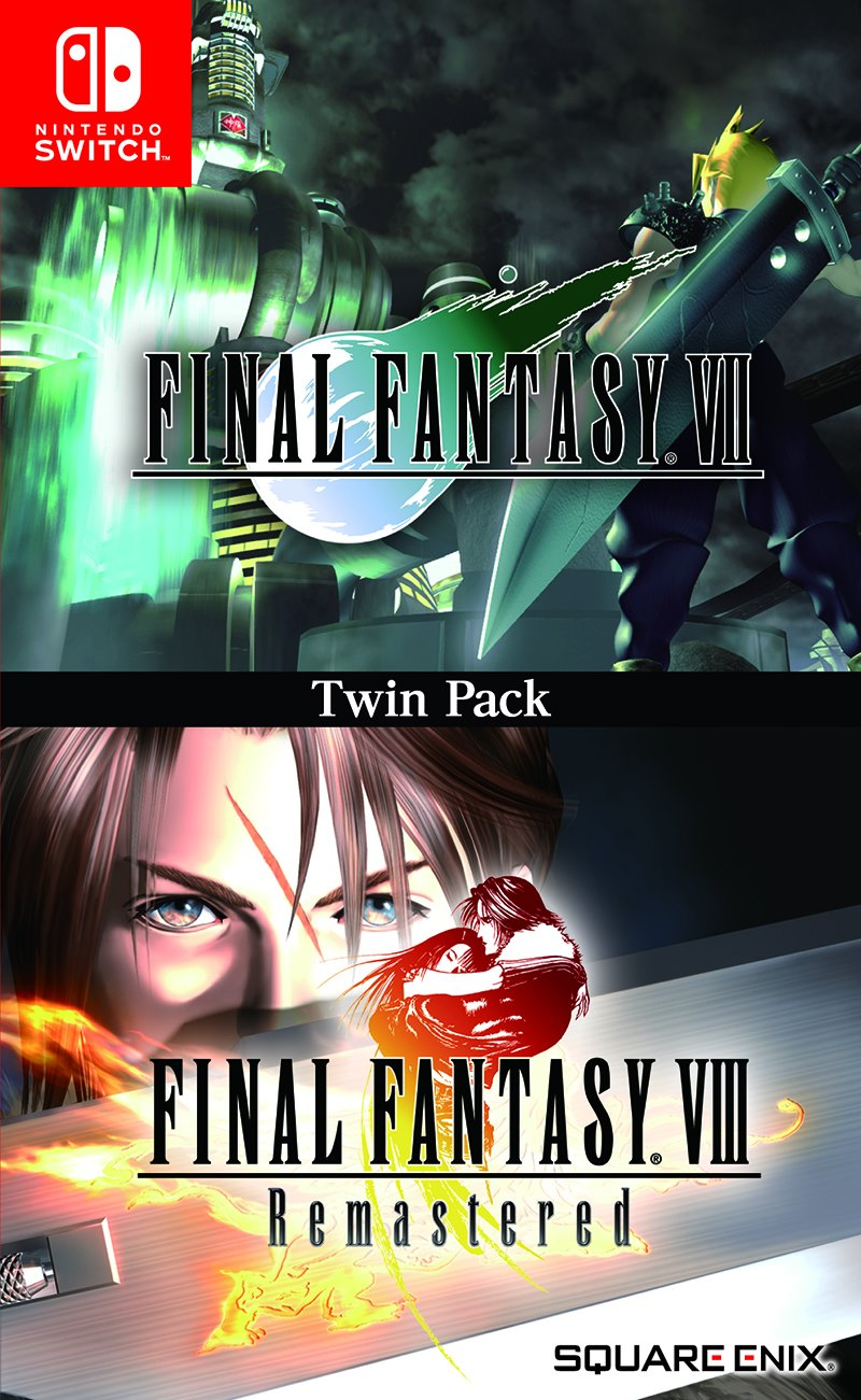 FF7 e FF8 Remastered Twin Pack Cover Art