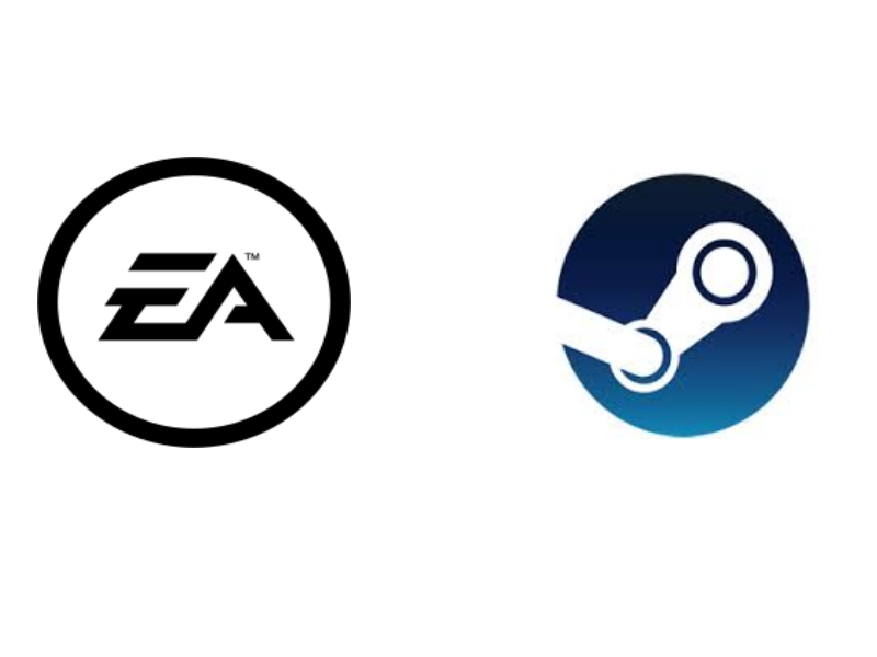 EA Logo e Steam Logo