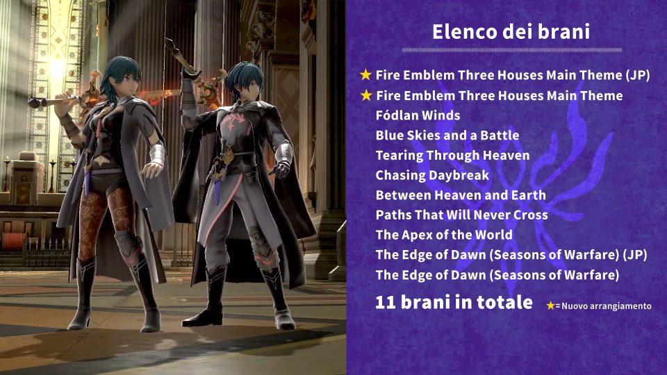 Super Smash Bros. Ultimate elenco brani di Fire Emblem