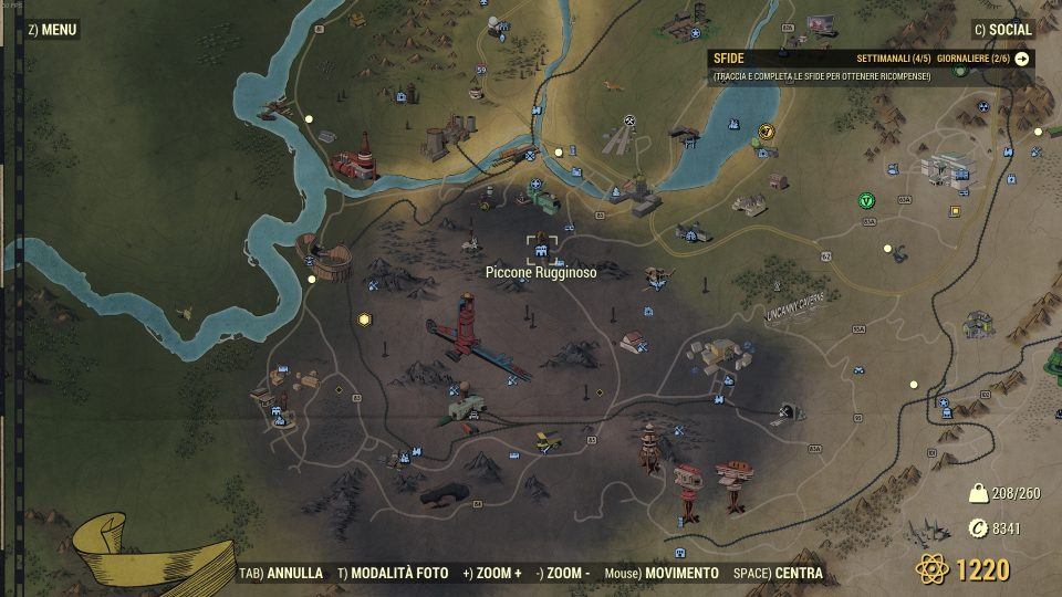 Fallout 76 venditore scrip zona