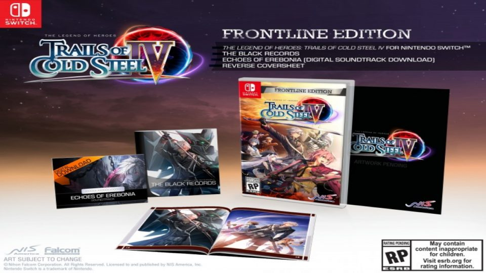The Legend Of Heroes: Trails Cold Steel IV Frontline Edition Nintendo Switch