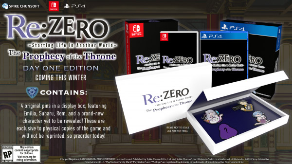 Re:Zero - The Prophecy of the Throne uscirà in occidente in Inverno 1