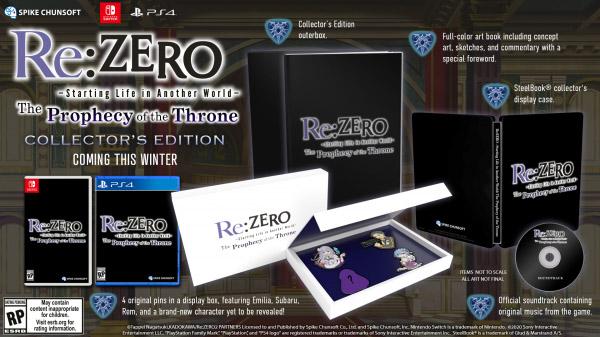Re:Zero - The Prophecy of the Throne uscirà in occidente in Inverno 2