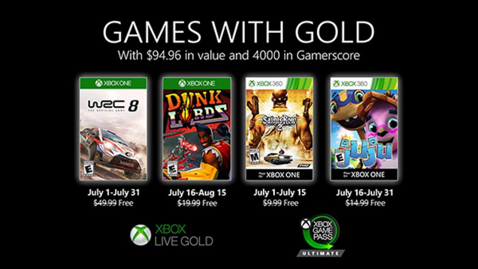 Games with Gold Luglio 2020