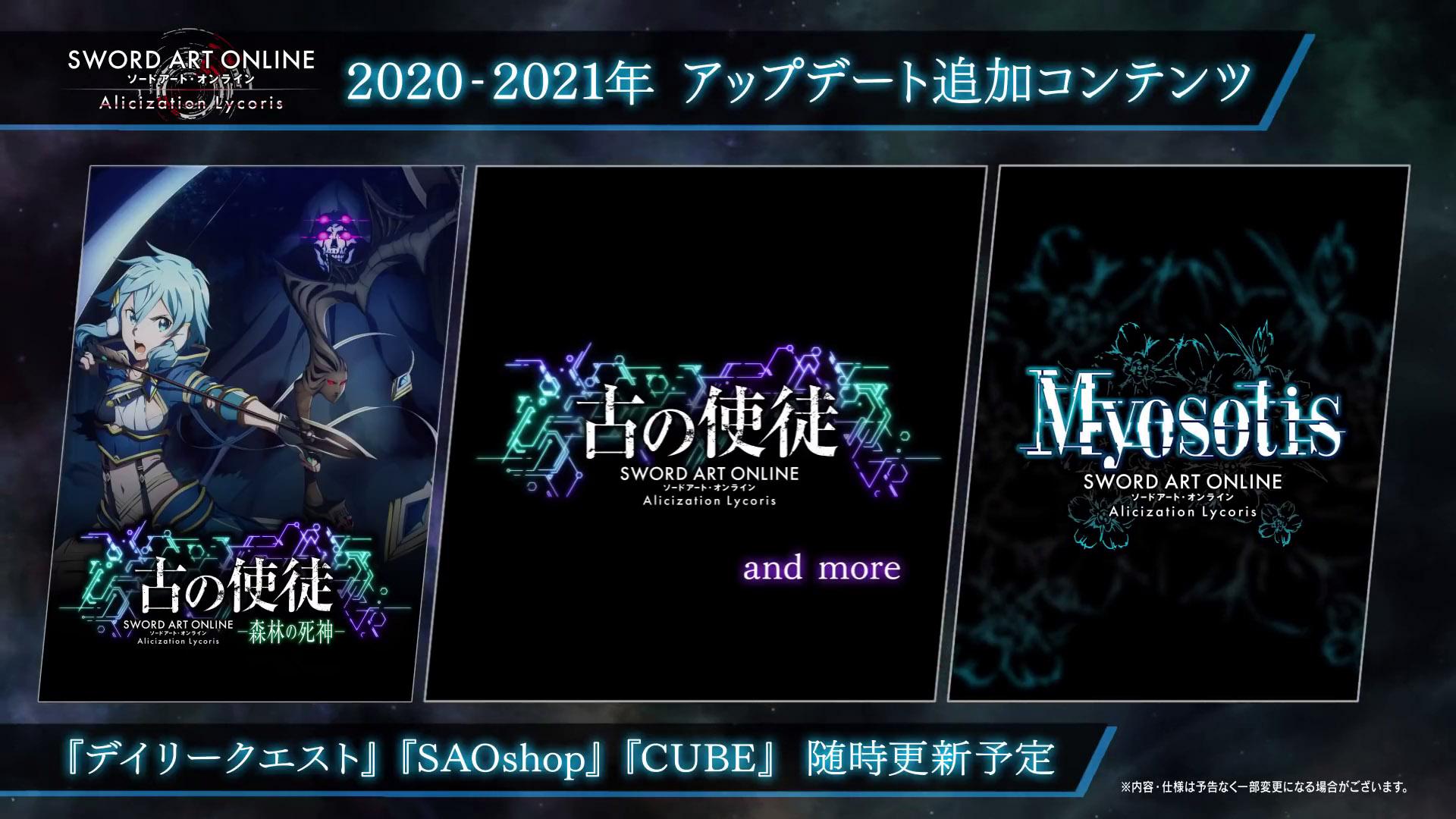 Sword Art Online: Alicization Lycoris Roadmap
