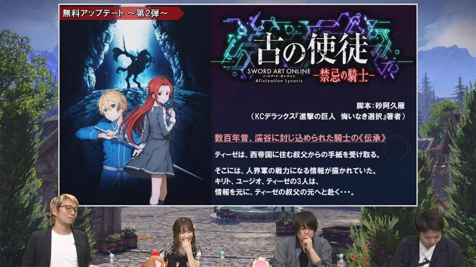 Sword Art Online: Alicization Lycoris, ecco la roadmap degli aggiornamenti 5