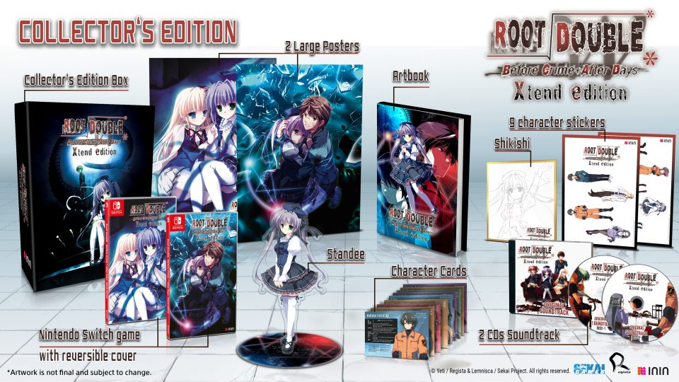 Root Double -Before Crime * After Days- Xtend Edition!, aperti i preorder delle limited edition per Switch 2