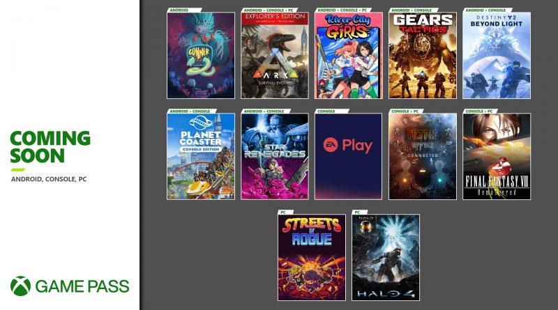 Xbox Game Pass Novembre 2020