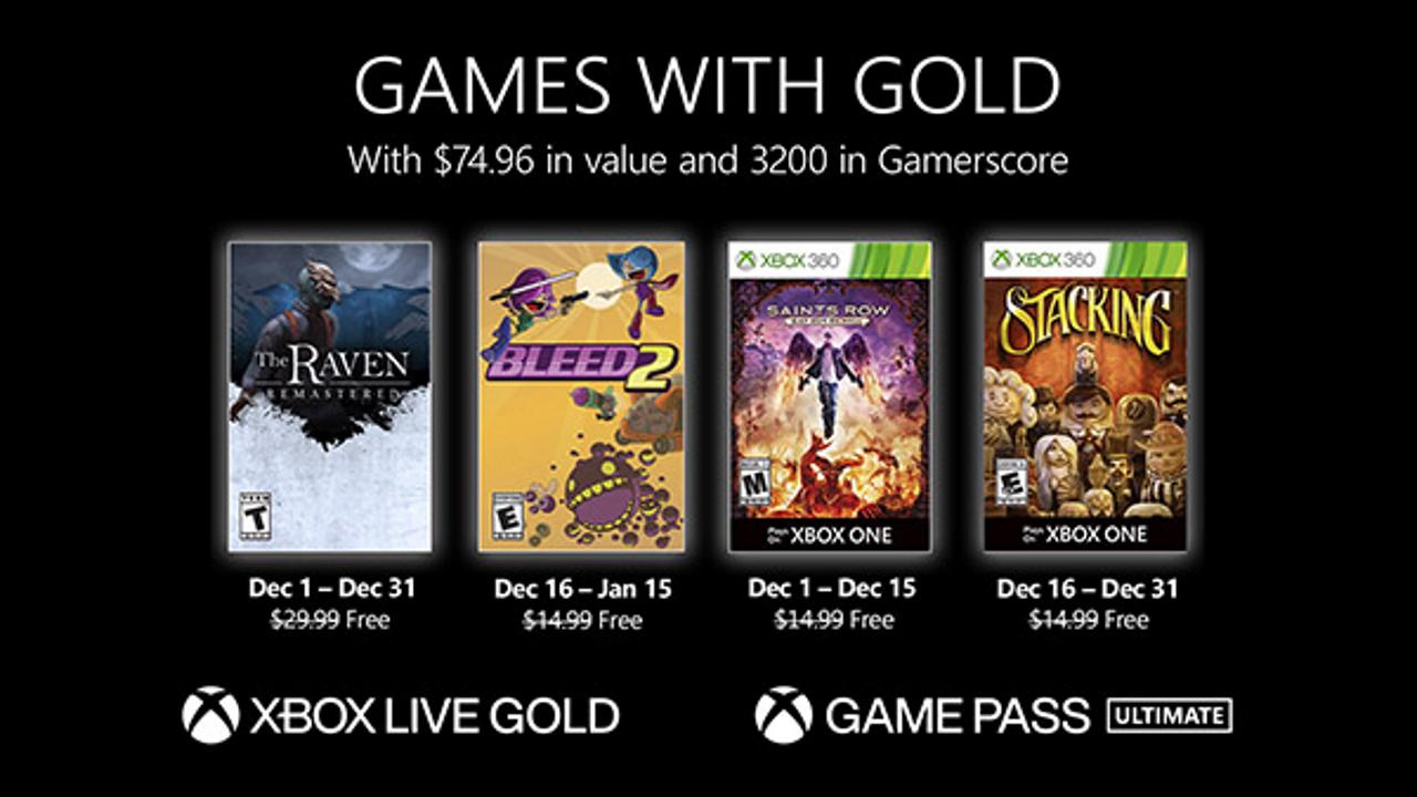 Xbox Live Gold Dicembre 2020