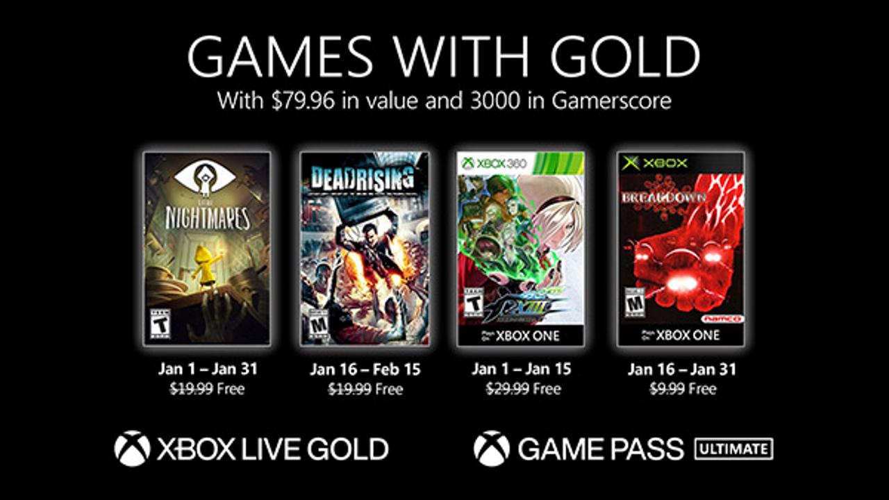 Xbox Live Gold Gennaio 2021