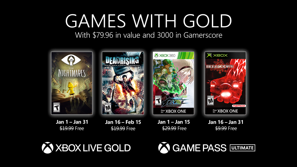 Games With Gold Gennaio 2021