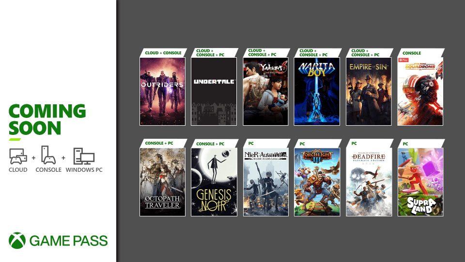 Xbox Game Pass Fine Marzo 2021