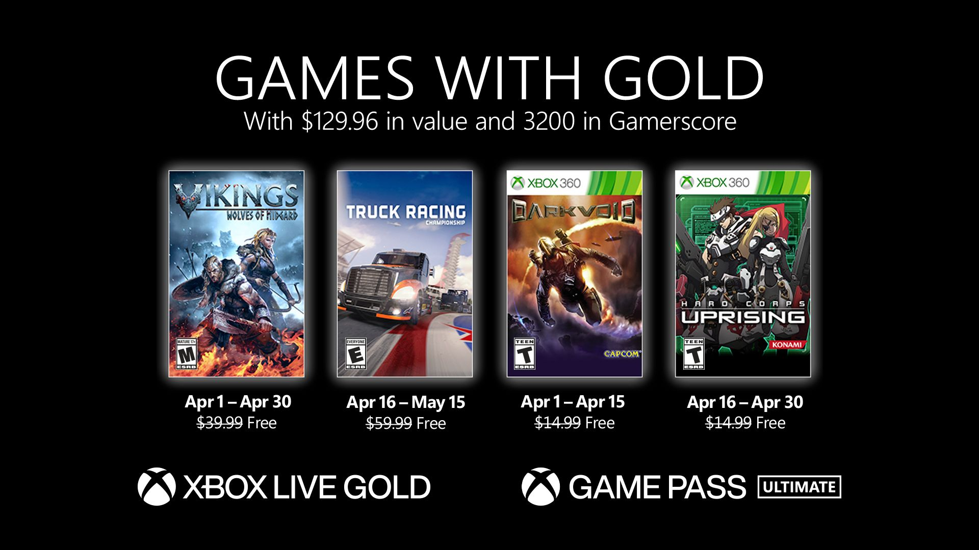 Games With Gold Aprile 2021