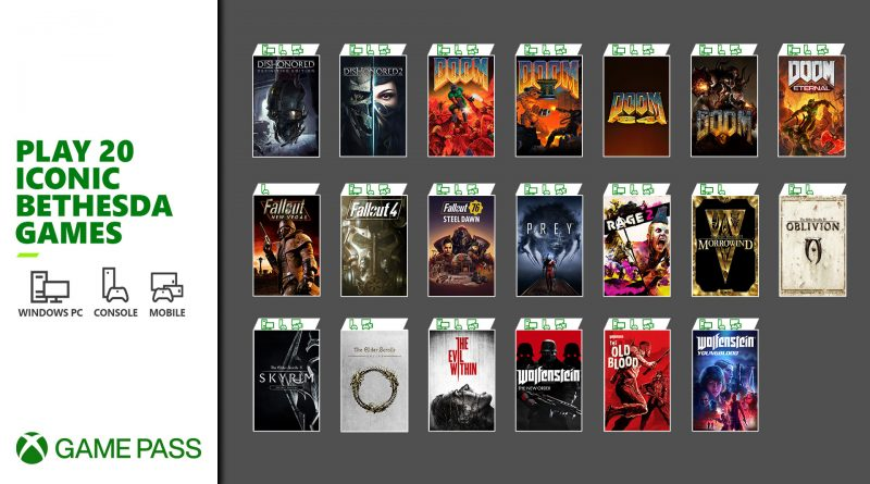 Xbox Game Pass Bethesda Softworks