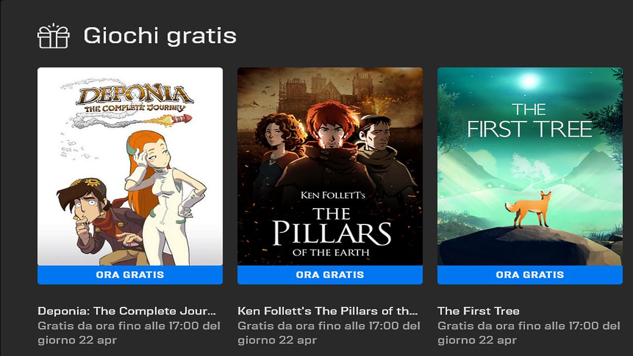 Epic Games Store Titoli Gratis 15 Aprile 2021