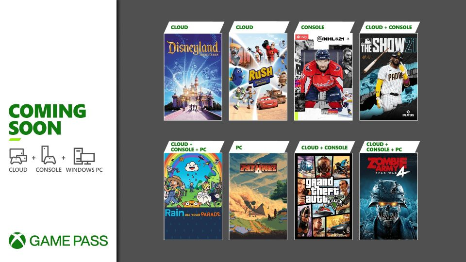 Xbox Game Pass Aprile 2021