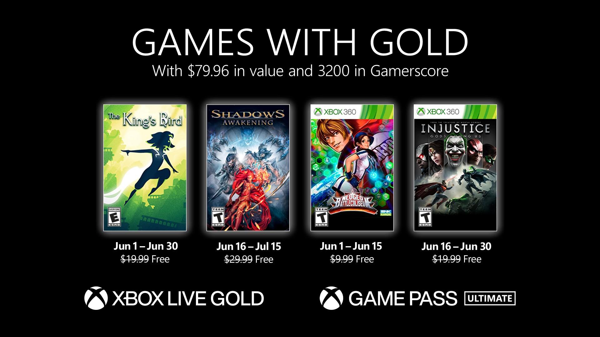 Xbox Live Gold Giugno 2021