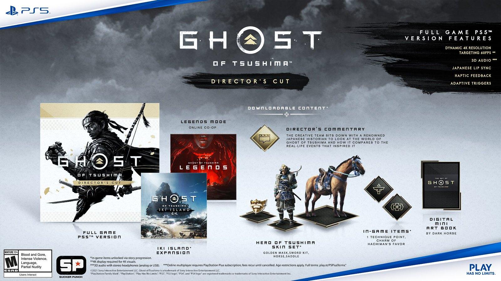 Ghost of Tsushima Director's Cut annunciato per PS5 e PS4 1