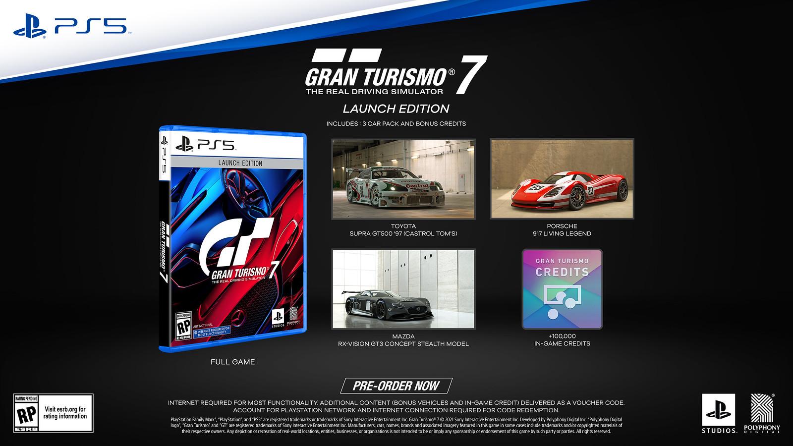 Gran Turismo 7, edizione del 25° anniversario e bonus pre-ordine 1