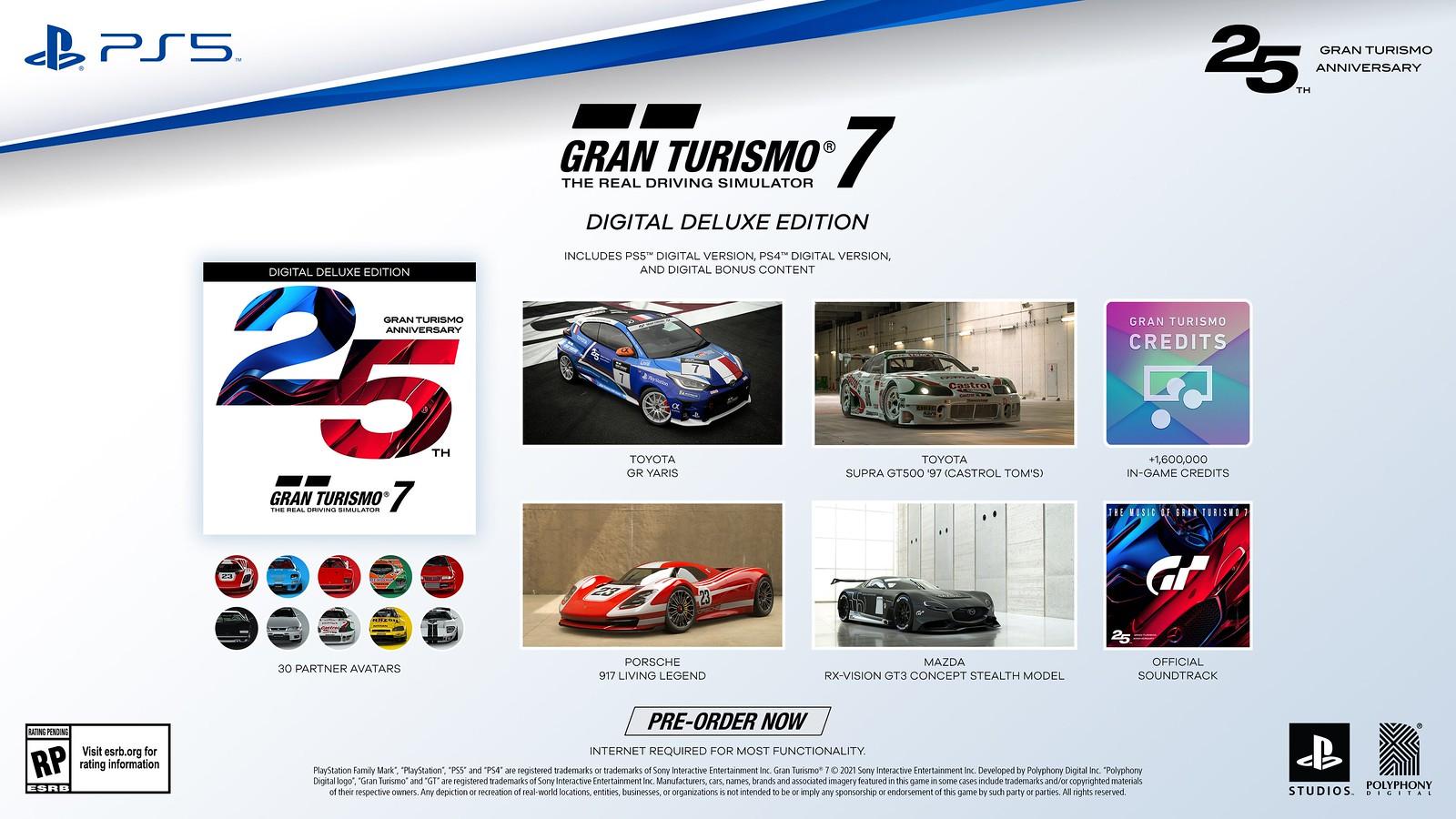 Gran Turismo 7, edizione del 25° anniversario e bonus pre-ordine 3