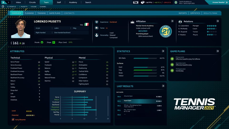CGCReviews: Tennis Manager 2021 4