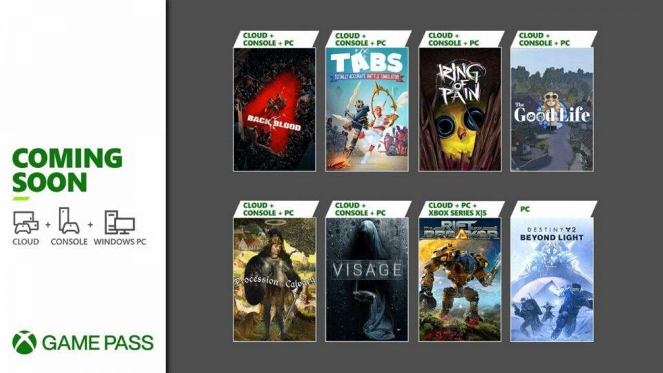 Xbox Game Pass metà Ottobre 2021